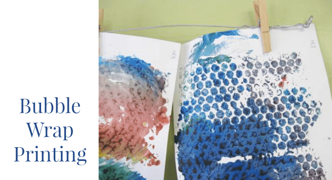 Bubble Wrap Printing and Painting with Kids