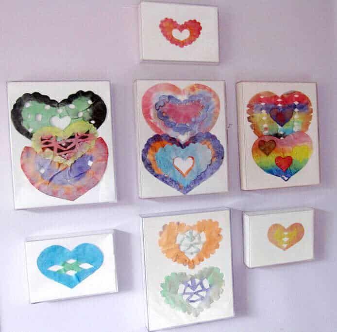 Painted Coffee Filter Hearts