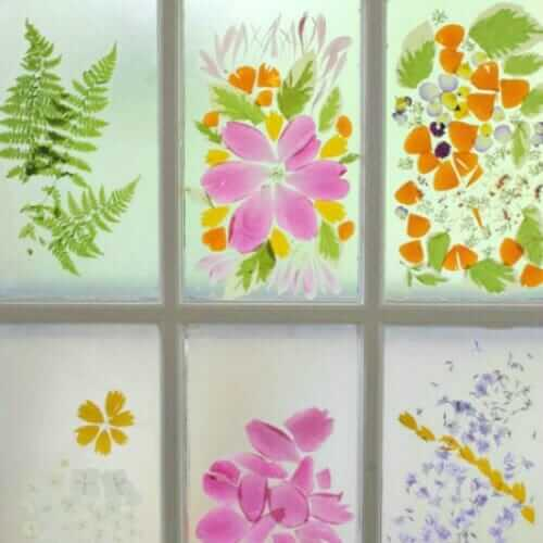 A Spring Flower Craft - Flower Petal Stained Glass Window