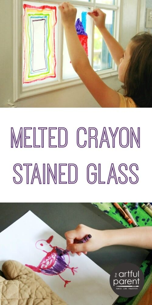 How to Make Melted Crayon Stained Glass