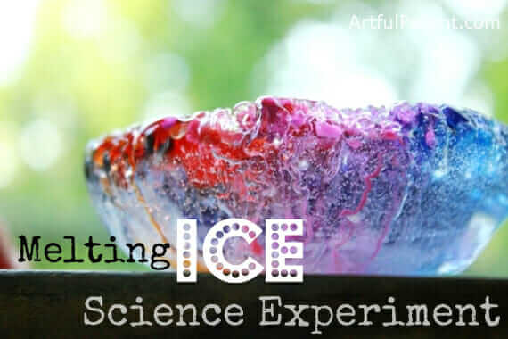 Melting Ice Science Experiment - top image