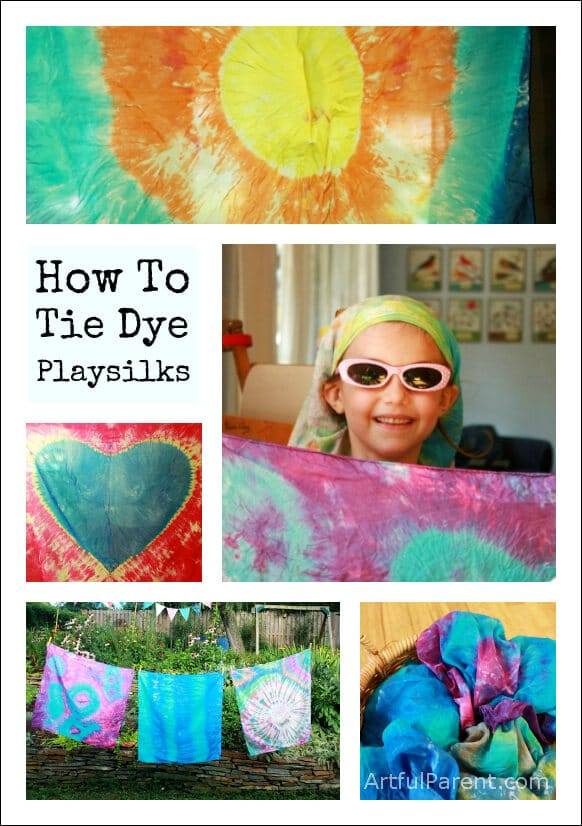 How to Tie Dye Scarves and Playsilks