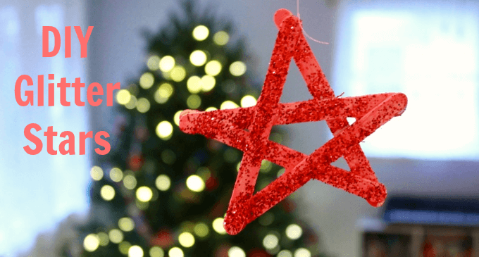 DIY Glitter Stars - An Easy Christmas Craft