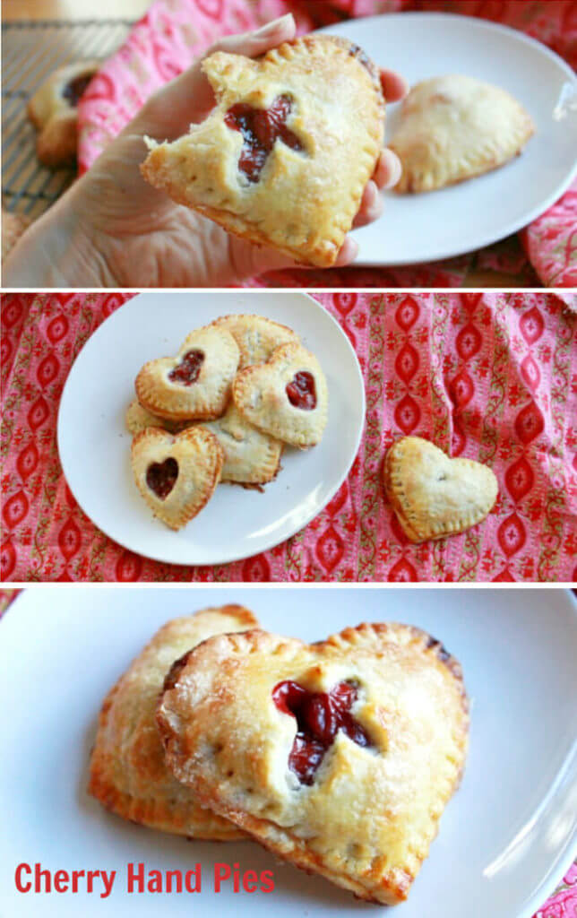 Heart shaped cherry hand pie recipe