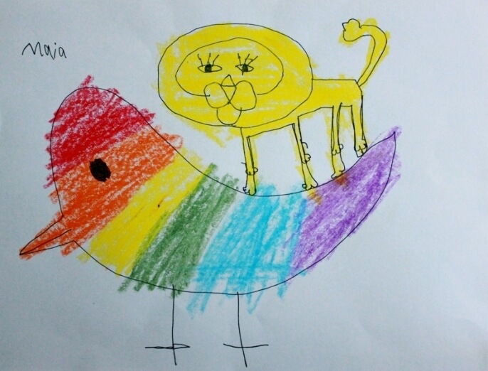 Drawing with Kids Lion Lesson 2 26