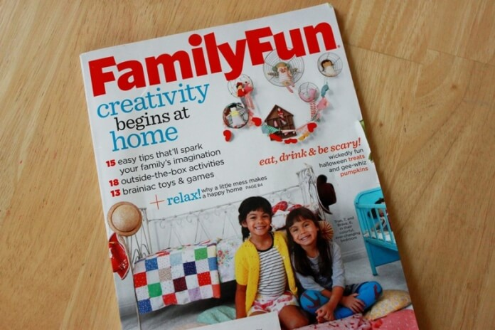 Family Fun Article on Creating Creative Kids