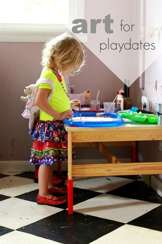 Art Play Date Ideas for Kids