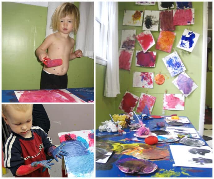 Toddler Art Group in the Studio