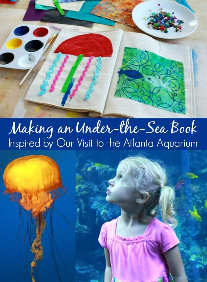 Making an Under-the-Sea Book inspired by a visit to the Atlanta Aquarium (plus an Artterro Art Kit Giveaway!)