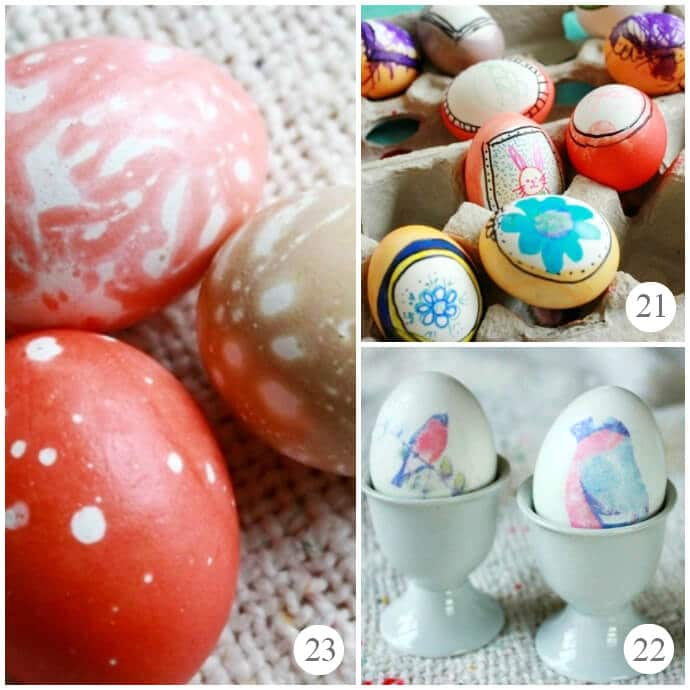 New Arts and Crafts Techniques Tried in 2013 -- Fun Easter Egg Decorating Techniques