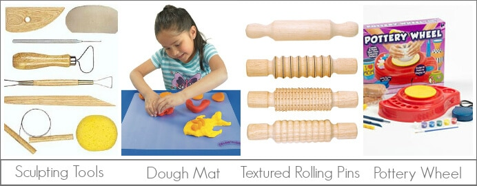 Kids Art Tools for Clay and Dough