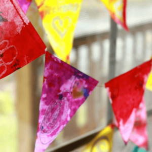 A Stained Glass Bunting for the Window