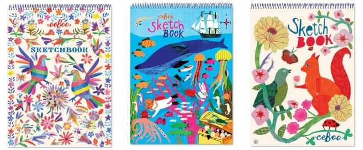 The Best Kids Art Materials - Sketchbooks and art journals for children