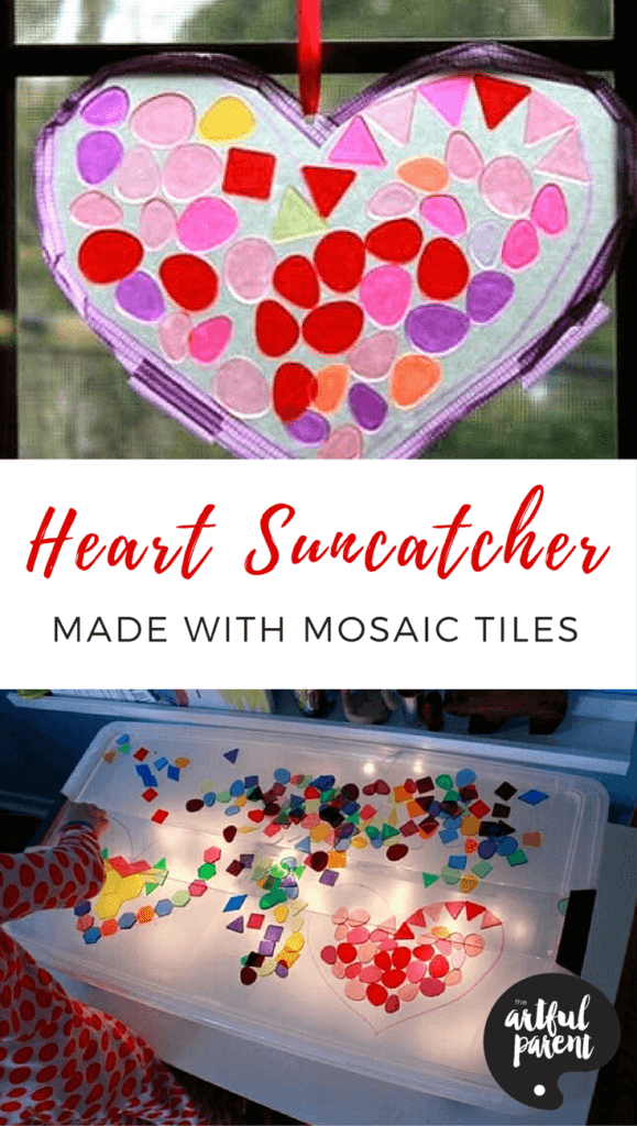 How to Make a Heart Suncatcher with Mosaic Tiles
