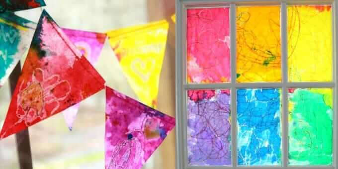 Watercolor Projects Kids Love - Printmaking with Watercolor Paintve - Stained Glass with Watercolors
