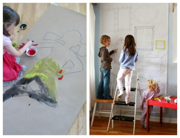 Paper for Children - Working BIG - Butcher paper Kraft paper and Contractors paper