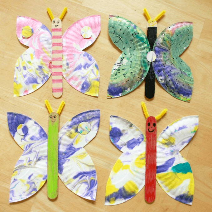How to Make Paper Plate Butterflies