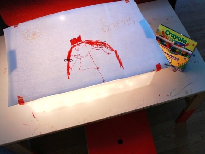Light Table Activities for Kids - Drawing on the Light Table