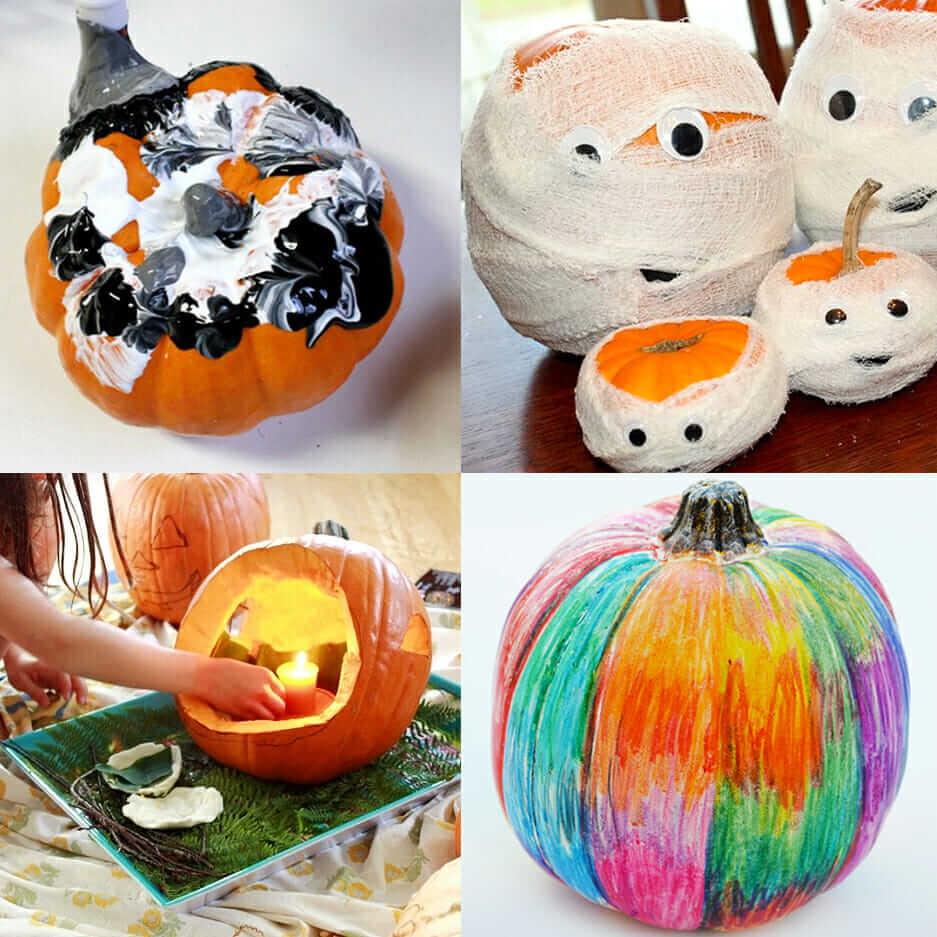 best decorating pumpkin ideas feature collage