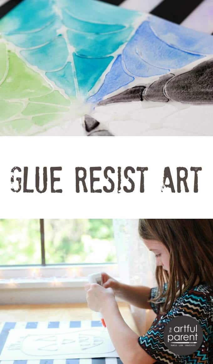 Glue Resist Art Activity for Kids