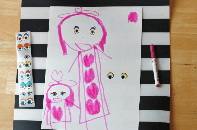 Drawing Prompts for Kids with Eye Stickers