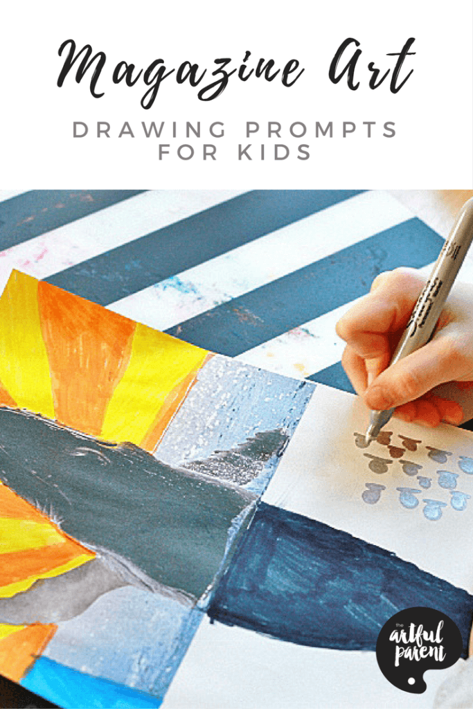Magazine Art Drawing Prompts For Kids