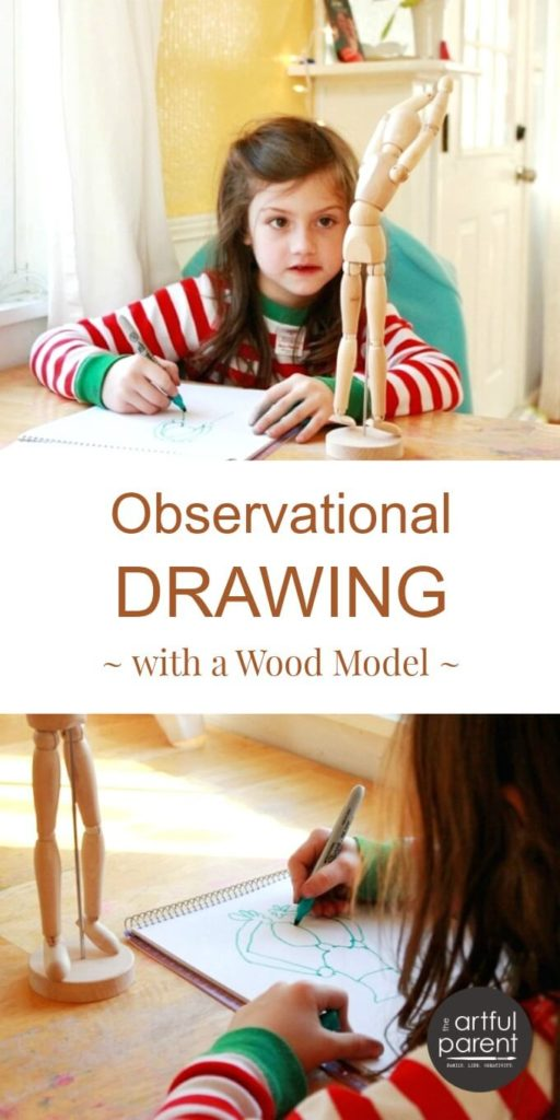 Observational Drawing for Kids with a Wood Model
