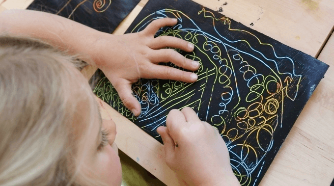 DIY Scratch Art with Kids