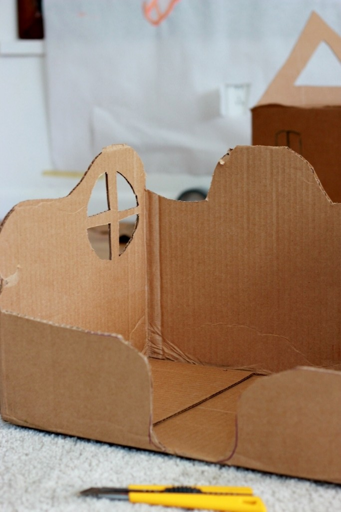 Making Cardboard Box Fairy Houses
