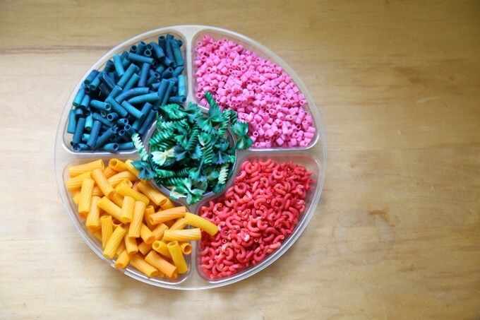 Colored Pasta for Kids Arts and Crafts