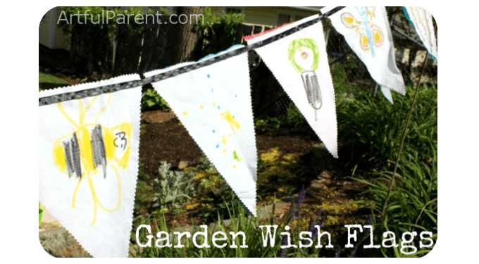Make Garden Wish Flags with Kids