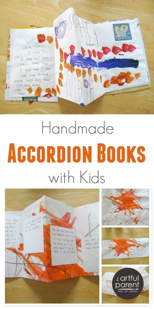 How to Make Handmade Accordion Books with Kids
