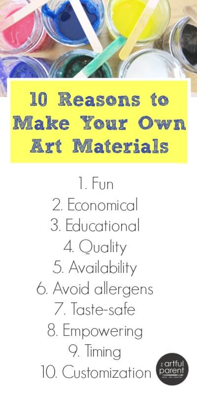 10 Reasons to Make Your Own Art Materials for Kids Art
