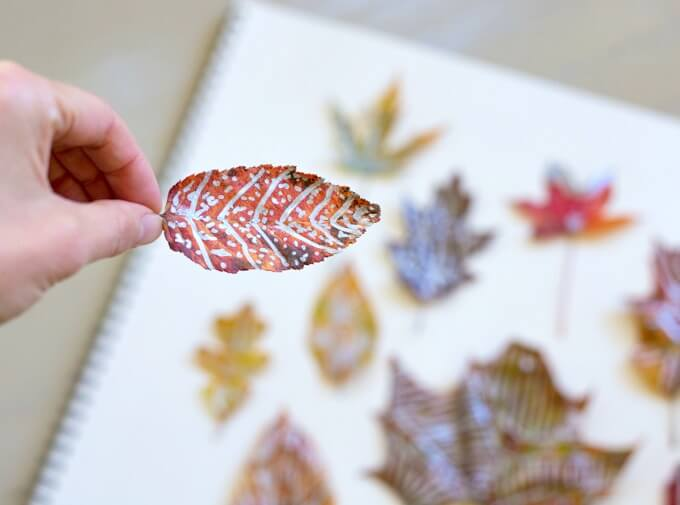 Zentangle Leaves - A fun and simple zentangle project for kids