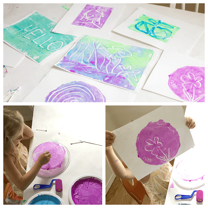 monoprinting with kids