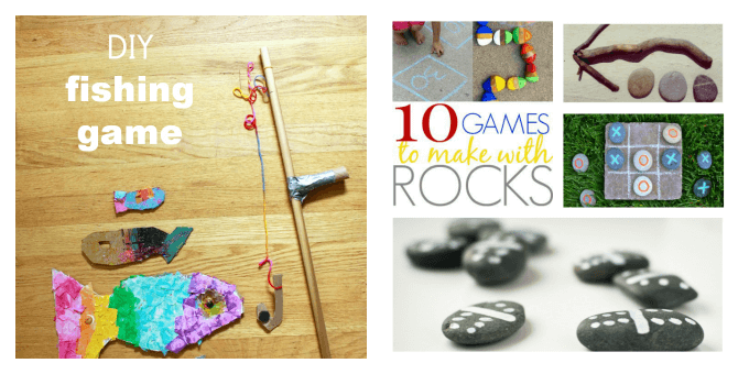 Kids Craft Ideas - Fishing Game and Rock Games