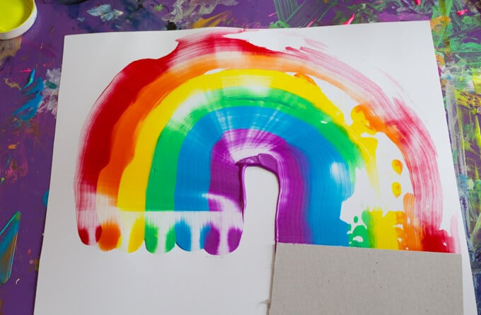 Rainbow Scraper Art