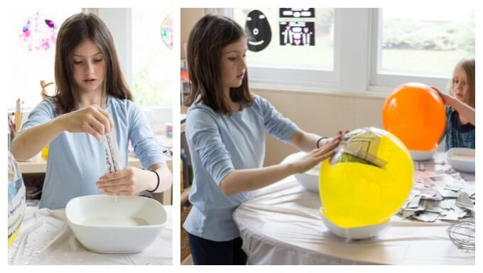 Making Papier Mache Eggs with Kids