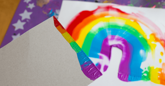 Rainbow Scraper Art for Kids