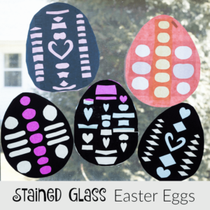 Stained Glass Easter Eggs – A Decorative Easter Craft Kids Can Make
