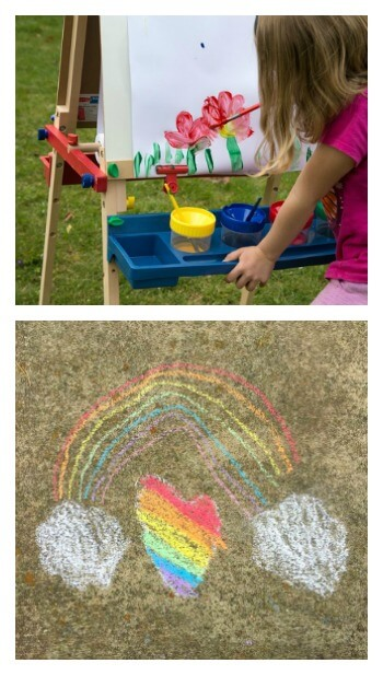 21 plus Outdoor Art Ideas for Kids