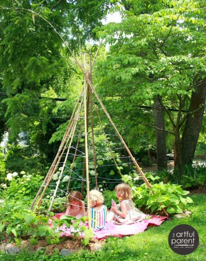 Superbe How To Make A Bean Pole Teepee