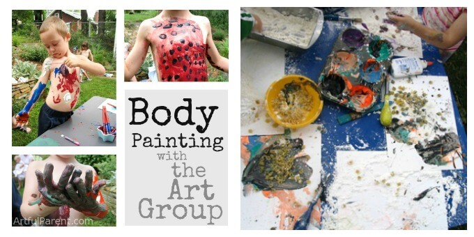 Outdoor Art Ideas for Kids - Body Painting and a Messy Party