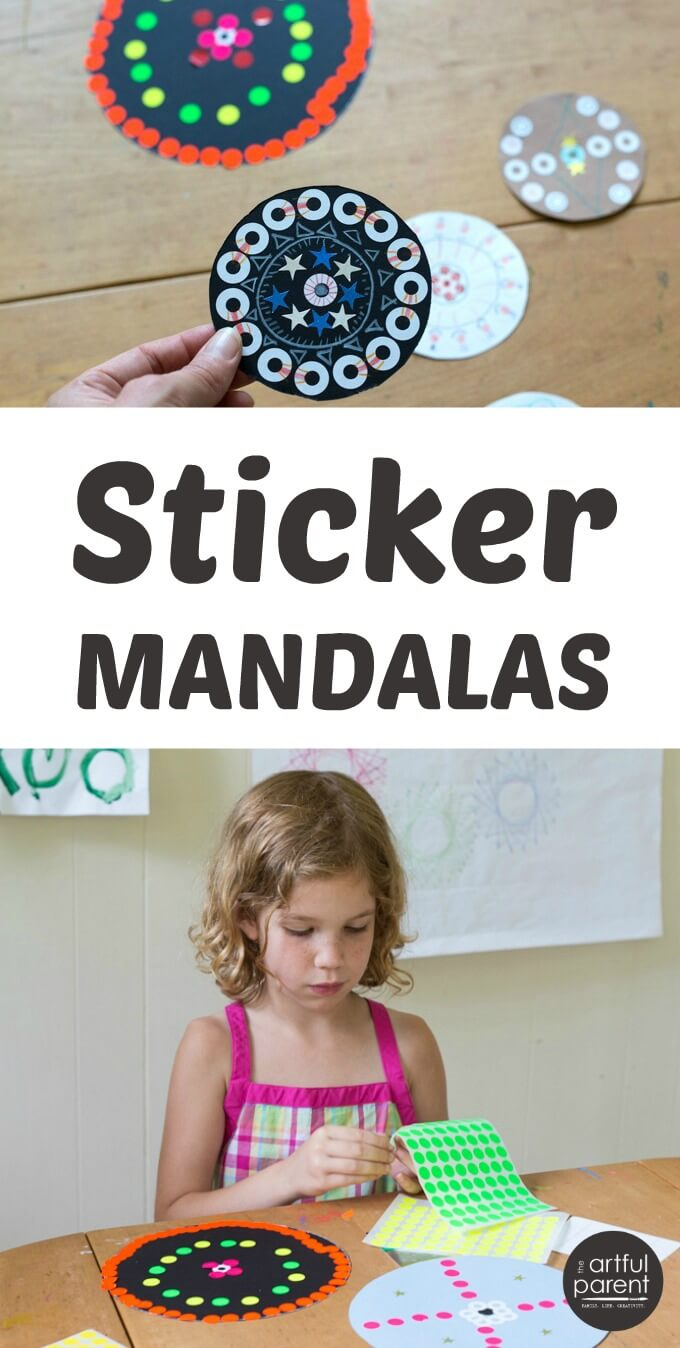Sticker Mandala Art for Kids