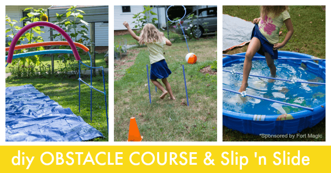 DIY Obstacle Course for Kids with a Fort Magic kit
