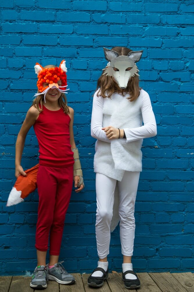 Costume Making Party for Kids - DIY Fox Costumes