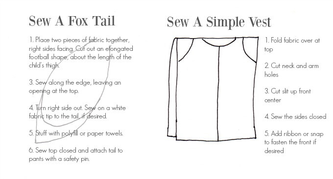 Costume Making Tips - How to Sew a Fox Tail and a Simple Vest