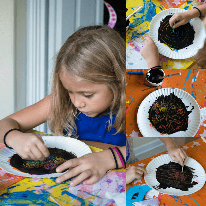 DIY Scratch Art Pictures with Kids