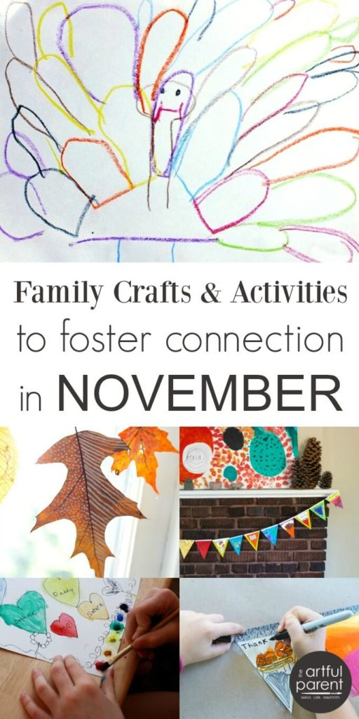 November Crafts and Activities to Foster Family Connection