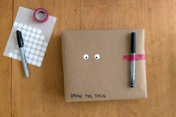 Make Your Own Gift Wrap - Draw the Face